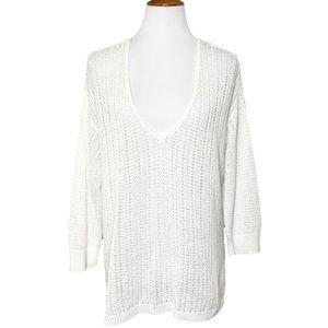 J. Jill Crochet Knit Tunic Pullover Sweater